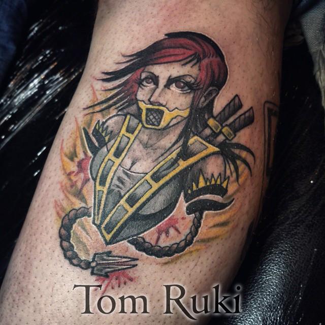 Scorpion Mortal Kombat Custom Tattoo Design By Tom Ruki Fo Flickr