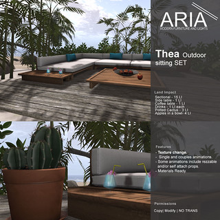 [ARIA] Thea outdoor living set @ FaMESHed!