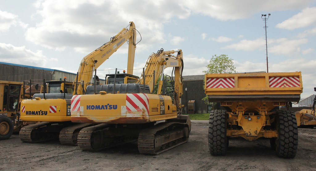 Komatsu Excavators and Volvo A25D Rear view 24th May 2016 | Flickr