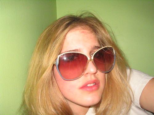 Those sunglasses are so huge