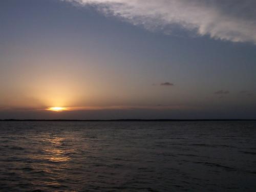 sunset sky lake water clouds waves lakerayroberts