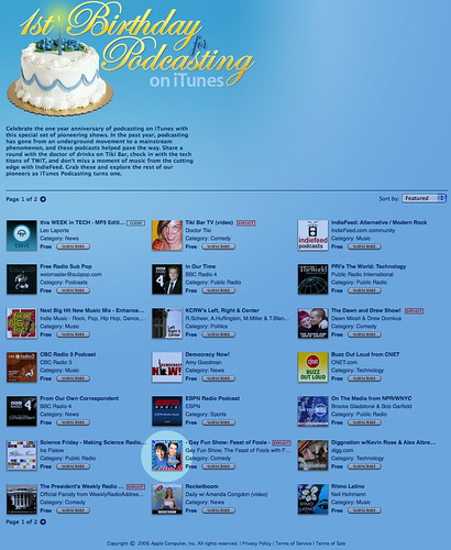 Apple celebrates iTunes' First Birthday for Podcasting! | by feastoffun.com