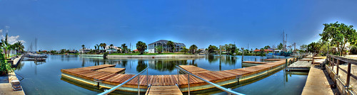 panorama water docks canal florida panoramic hdr stich hernandobeach herando