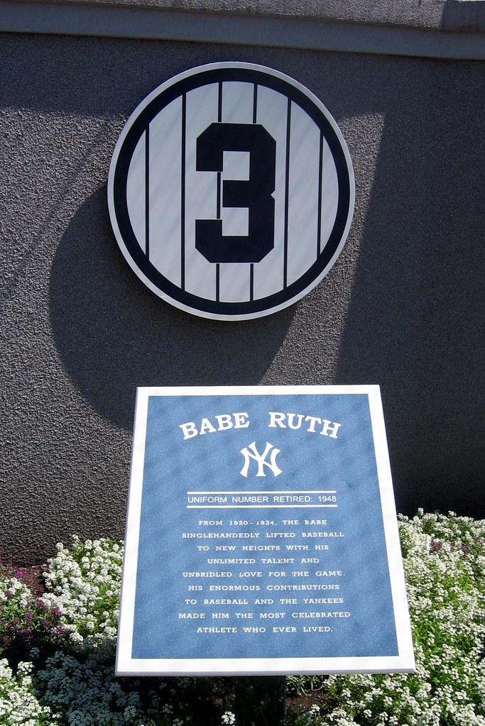 Yankee Stadium Monument Park Retired Numbers Babe Rut