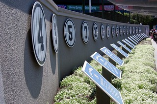 NYC - Bronx - Yankee Stadium: Monument Park - Retired Numbers | by wallyg