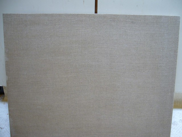 linen canvas - front | first stretching attempt - 8 7 belgia