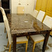 Large marble effect formica kitchen table