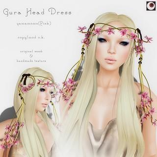 *NAMINOKE*Gaura Hair Dress Pink   by taiko McCaw