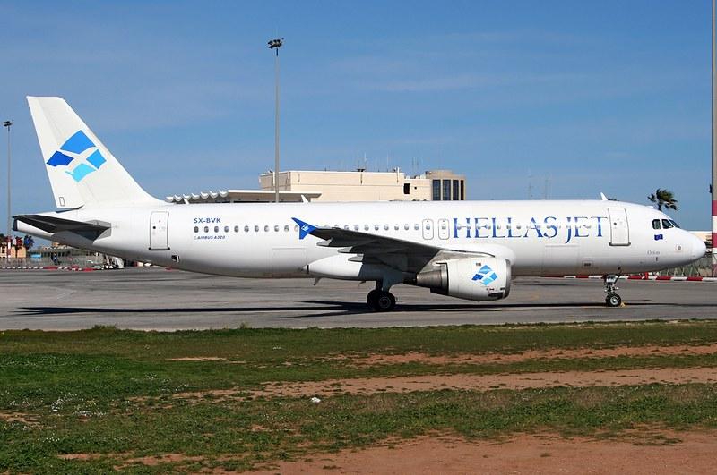 A.320-211 C.n 0088 'SX-BVK' Hellas Jet