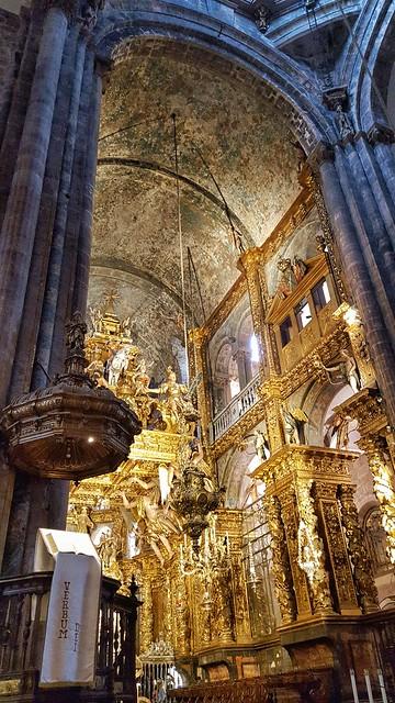 Inside the Cathedral at Santiago de Compostela