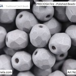 PRECIOSA Fire-Polished Beads - 151 19 001 - 02010/29566 - Grey