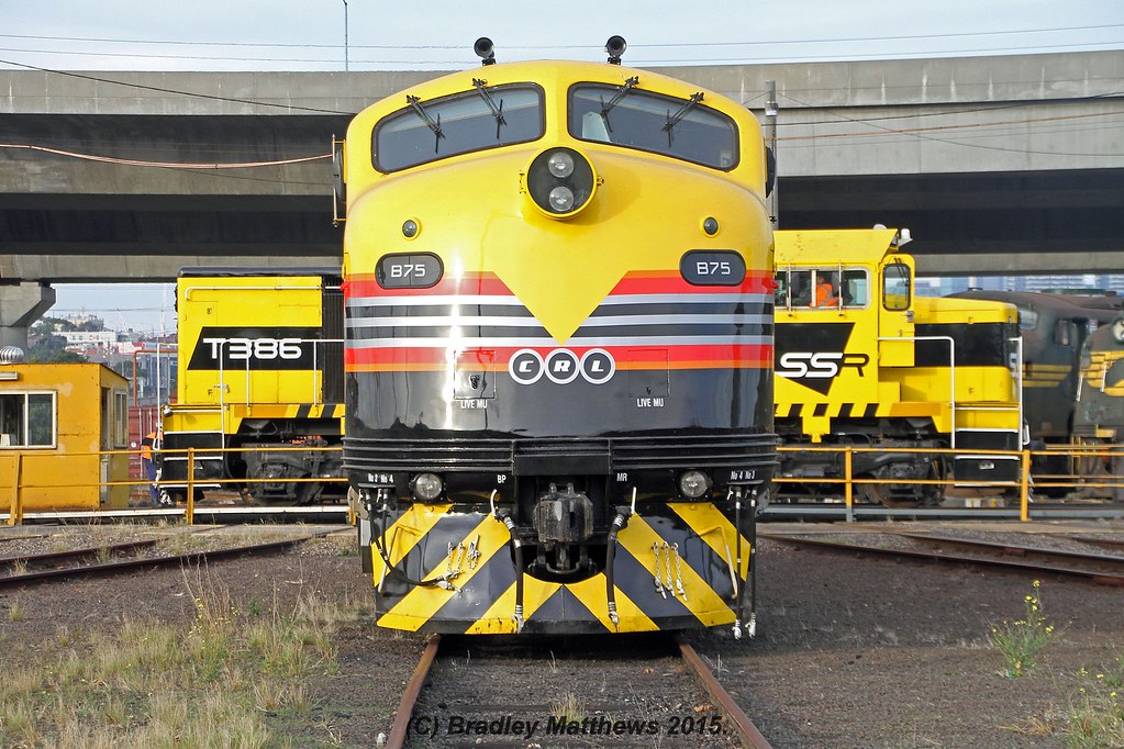 SSR B75 (in front) & T386 (behind) at Sth Dynon (24/5/2015) by Bradley Matthews