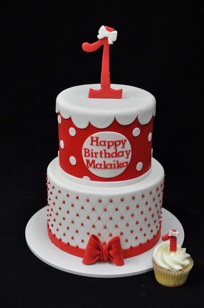 Enjoyable Minnie Mouse First Birthday Cake And Cupcake Jenny Wenny Flickr Funny Birthday Cards Online Elaedamsfinfo