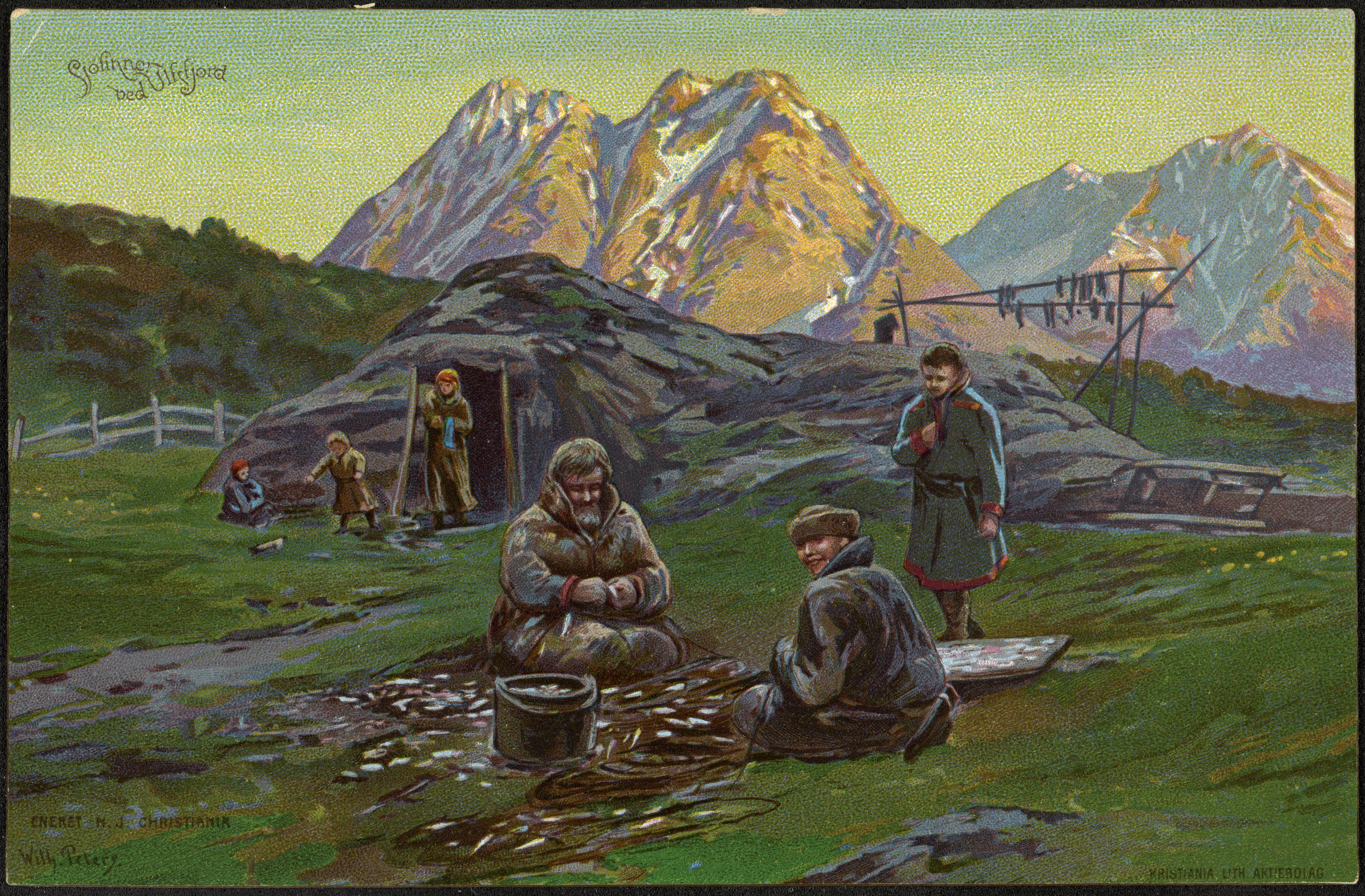 Sjøfinner ved Ulfsfjord / Coast Sami at Ulfsfjord
