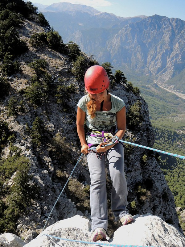 Ferda's first rappel by bryandkeith on flickr
