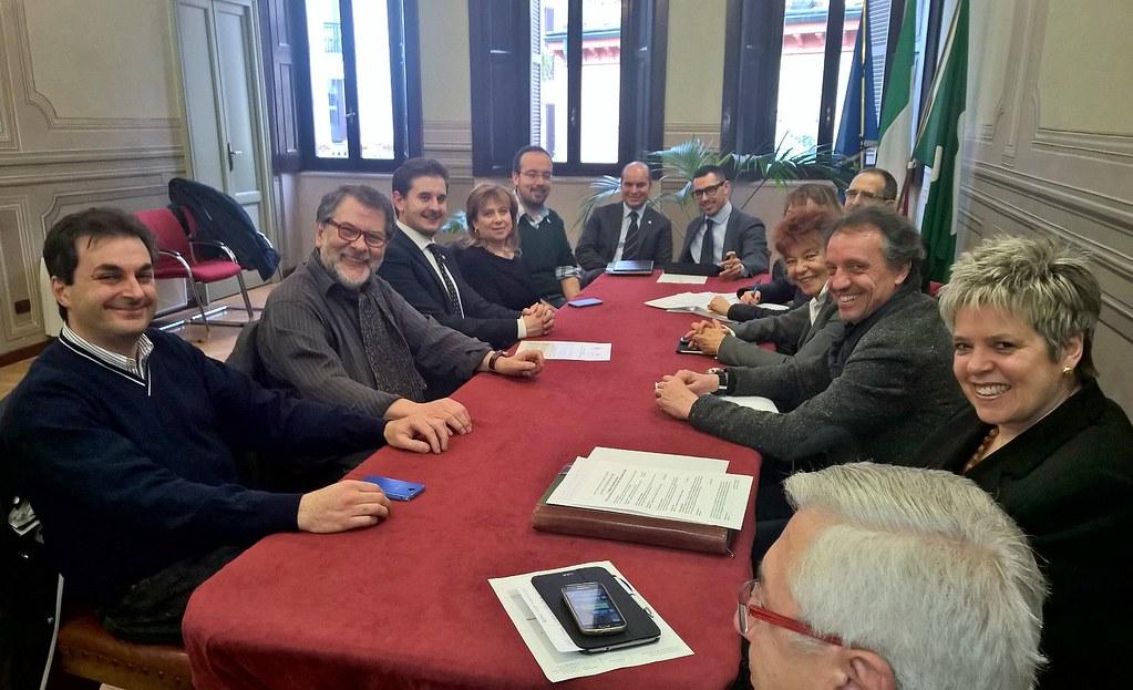 CONFERENZA STAMPA E GIUNTA CONGIUNTA ABBIATEGRASSO-MAGENTA  25 MARZO 2015  Foto P. Bianchi