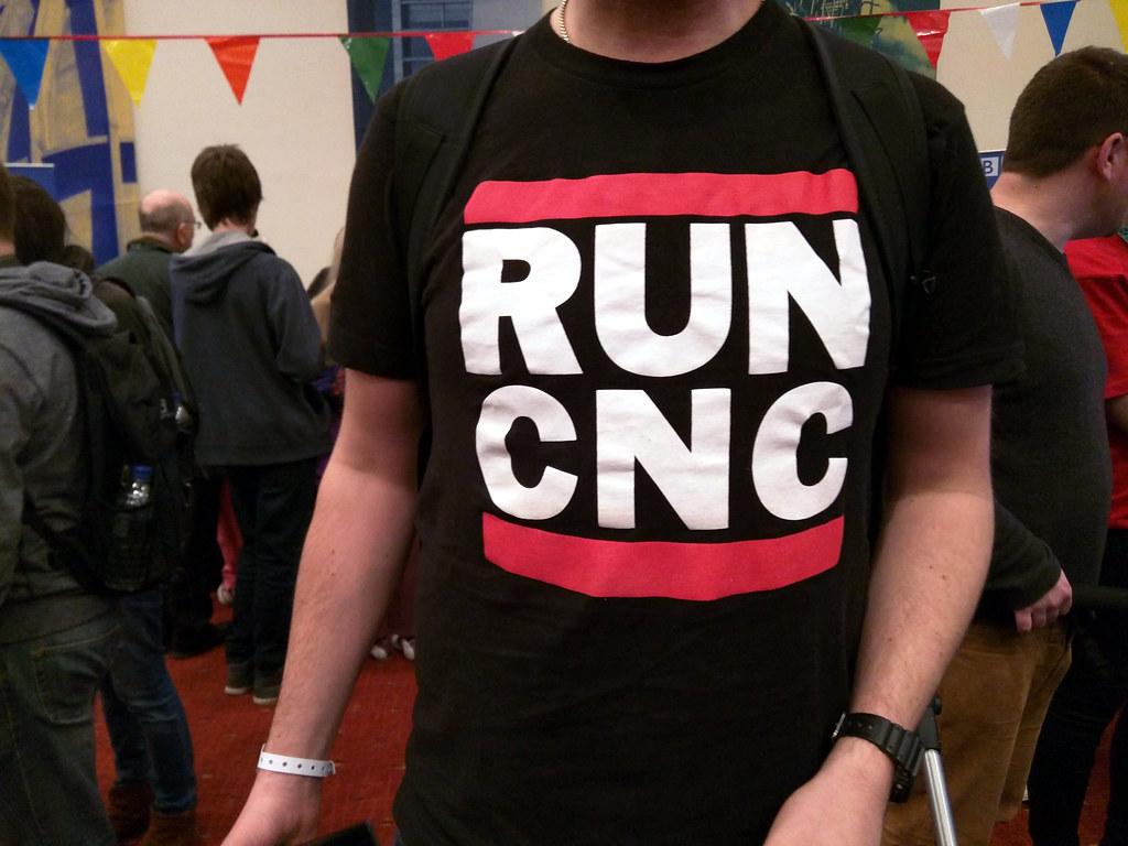 RUN CNC tee, Maker Faire, Newcastle, UK   Cory Doctorow   Flickr