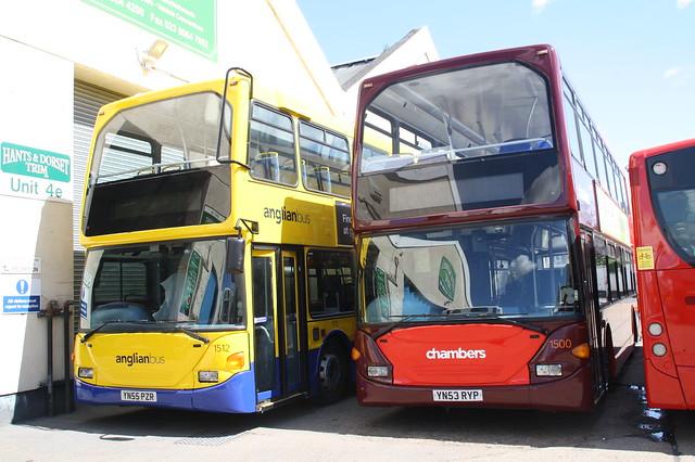 1512 YN55PZR Anglianbus - 1500 YN53RYP Chambers
