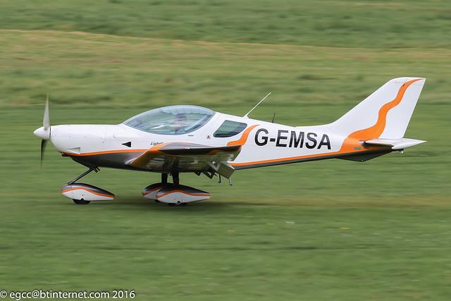 G-EMSA - 2010 build Czech Sport Aircraft Sportcruiser, arriving on Runway 26L at Barton