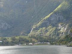 Pueblo de Flam, visto desde el barco