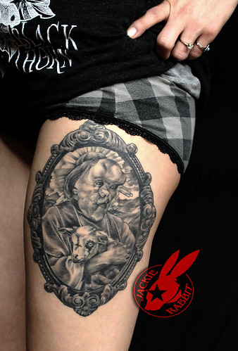 Elephant Man John Merrick Frame Metal as Fuck Thigh Tattoo by Jackie Rabbit | by Jackie rabbit Tattoos