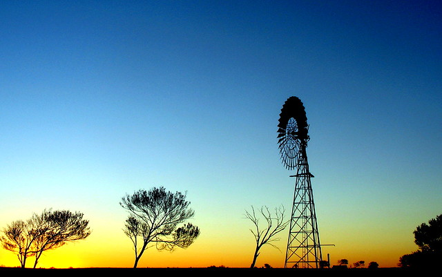 Glendambo Windmill Sunset