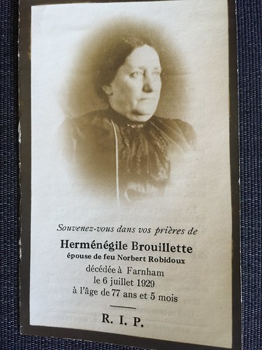 Herménégile Brouillette 1929 | by Finding Kin
