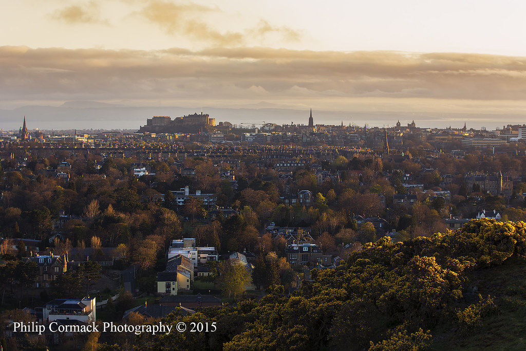 Sunrise Overlooking Edinburgh