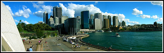 Sydney view from Opera House