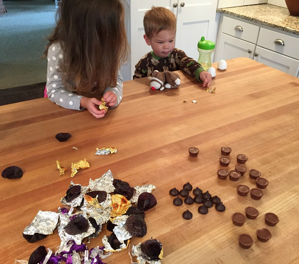 kids love unwrapping the chocolates