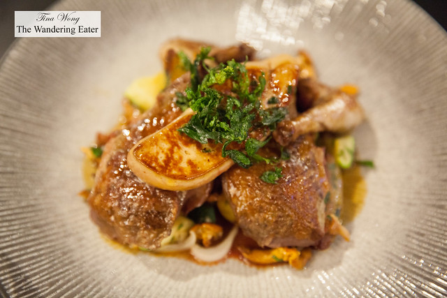 Special of the day - Roast quail with foie gras