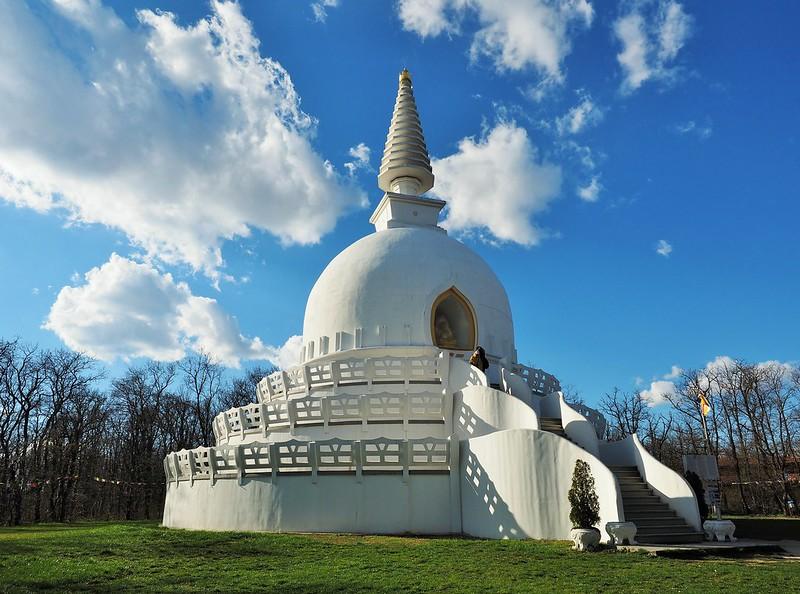 Friedens-Stupa in Zalaszántó, Ungarn