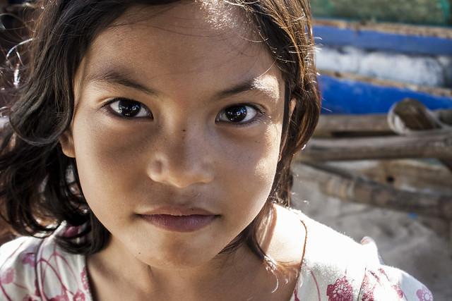 A girl in Bantayan Island