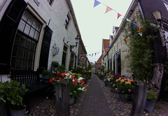 decorated street, Elburg
