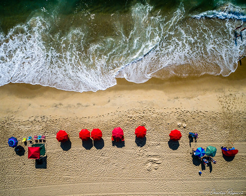 ocean sand beach coast umbrella wave light texture seascape maryland colors drone ariel salt patterns lifeguard summer august vacation heat nikon d5200 surreal breeze hot surf fish people united states landscape
