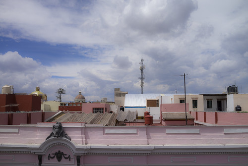 View from the roof of The Amparo Museum, Puebla, Mexico.