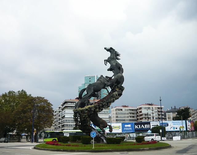 Plaza Espana, Vigo, Spain