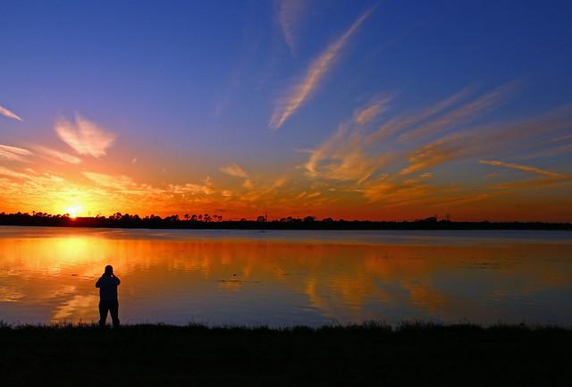 Photographer Sunset