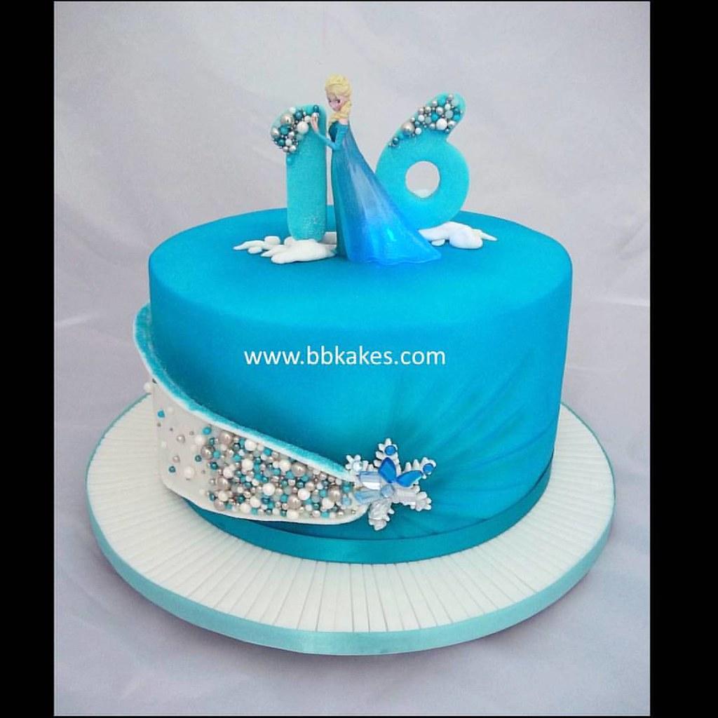 Cool Elegant Jewel Frozen Theme 16Th Birthday Cake By Bbkakes Flickr Funny Birthday Cards Online Unhofree Goldxyz