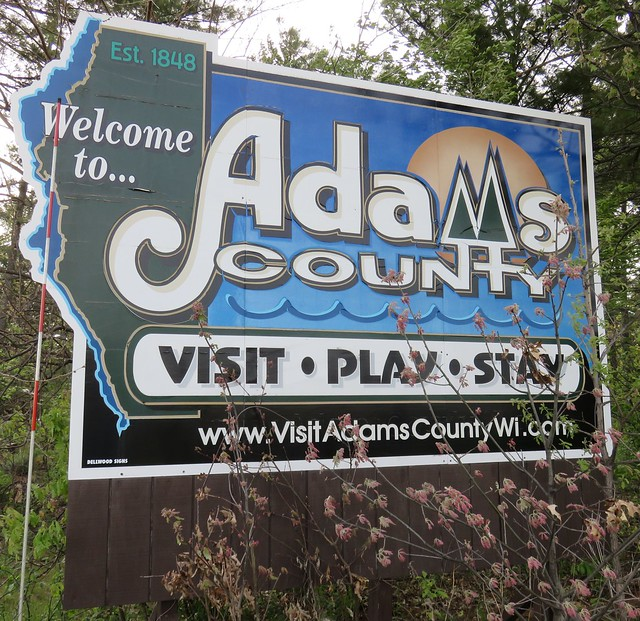 Welcome to Adams County Sign (Adams County, Wisconsin)