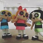 カートゥーンフェアにてガールズを激写☆☆☆ #カートゥーンフェア #パワーパフガールズ #カートゥーンネットワーク #バブルス #ブロッサム #バターカップ  #cartoonnetwork #powerpuffgirls