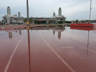 Flooded Running Track at Al Sadd Sports Club | by www.iCandy.pw