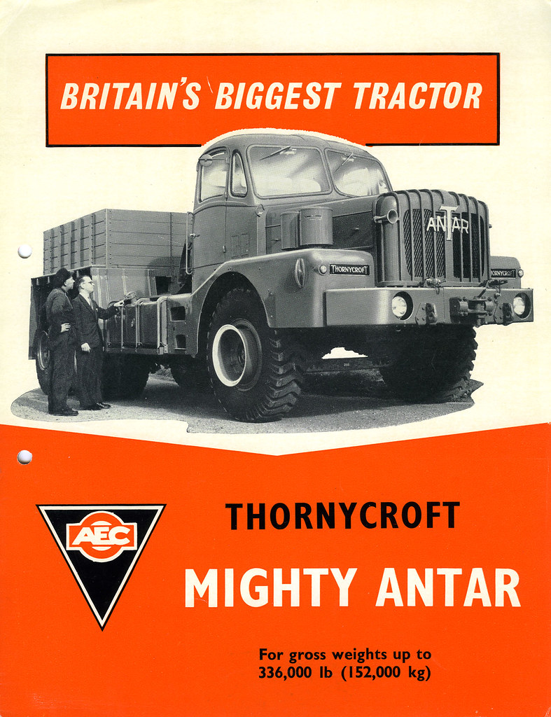 Thornycroft Mighty Antar Mk Iii  Leaflet Front Cover  1963