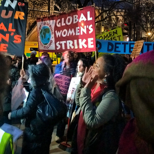 Global Women's Strike at the Stop Trump Rally | by garryknight