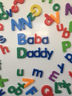 Alphabet Fridge Magnets Spelling Baba Daddy | by Jonathan Rolande
