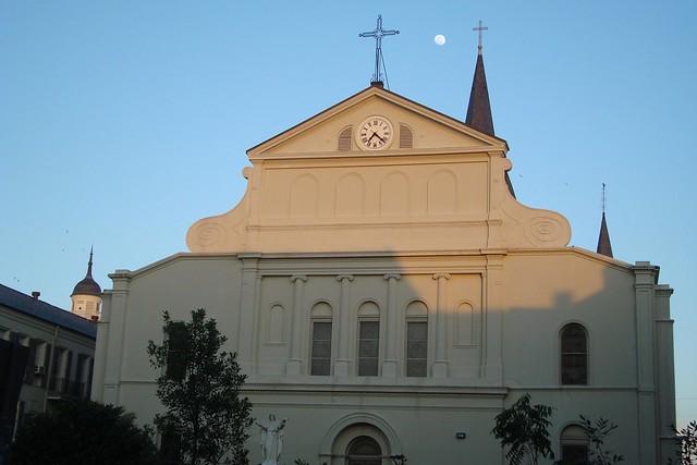 Moon view, church