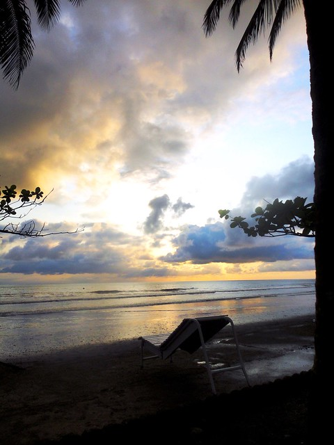 Beautiful sunset, Seme Beach, Cameroun