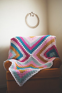 Granny Four Square, laid out | by Lisa | goodknits