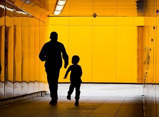Orange Tunnel, Man and Boy - 124/365 | by Mr Moss