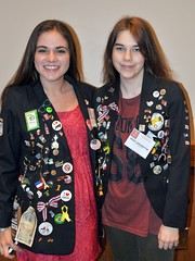 District 7110's Rotary Youth Exchange students are Left to Right: Camila Trucone from Argentina and Adalheidur Maack Larusdottir from Iceland. Both will complete their year here shortly. Both speak excellent English!